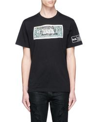 Haculla - Black 'never For Money' Doodle Bill Print T-shirt for Men - Lyst