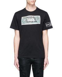 Haculla | Black 'never For Money' Doodle Bill Print T-shirt for Men | Lyst
