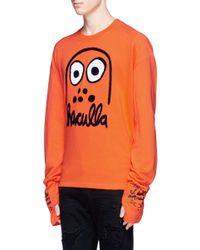 Haculla - Orange 'battle Buddy' Appliqué French Terry Sweatshirt for Men - Lyst