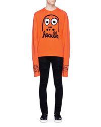 Haculla | Orange 'battle Buddy' Appliqué French Terry Sweatshirt for Men | Lyst