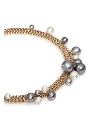 Lanvin - Metallic 'perles' Swarovski Pearl Cluster Chain Necklace - Lyst