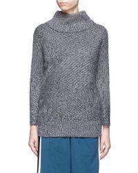 Rag & Bone | Gray 'bry' Merino Wool Blend Turtleneck Sweater | Lyst