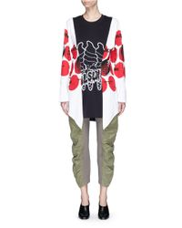 Stella McCartney - Multicolor 'aurelia' Mixed Slogan Print Colourblock Top - Lyst