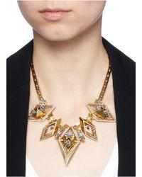 Erickson Beamon - Blue 'geometry One' Swarovski Crystal Statement Necklace - Lyst