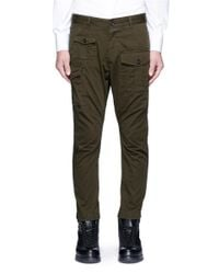 DSquared² | Green Cotton Cargo Pants for Men | Lyst