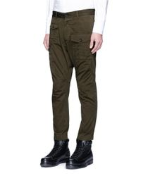DSquared² - Green Cotton Cargo Pants for Men - Lyst