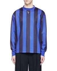Alexander Wang | Blue Pole Dancer Embroidered Stripe Long Sleeve T-shirt for Men | Lyst
