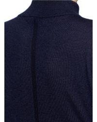 The Row - Blue 'alen' Cashmere-silk Turtleneck Sweater - Lyst