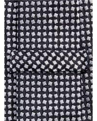 Armani - Black Square Jacquard Tie for Men - Lyst