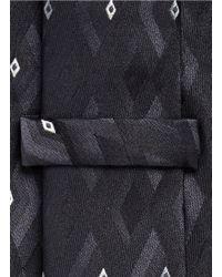 Armani - Black Diamond Jacquard Tie for Men - Lyst