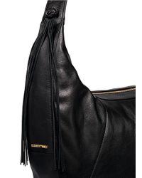 Elizabeth and James - Black 'zoe' Large Leather Hobo Bag - Lyst