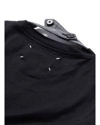 Maison Margiela - Black Neck Strap Cotton T-shirt for Men - Lyst