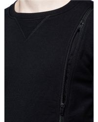 Maison Margiela - Black Double Zip Sweatshirt for Men - Lyst