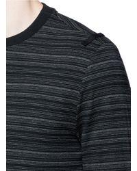 Maison Margiela - Gray Stripe Ribbon Trim T-shirt for Men - Lyst