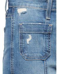 Current/Elliott - Blue 'the Judy Flare' High Waist Distressed Denim Pants - Lyst
