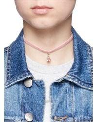 Joomi Lim | Pink 'shadow Of Love' Swarovski Crystal Velvet Choker Necklace | Lyst