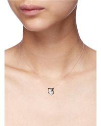 Bao Bao Wan | Black 'little Owl' 18k Gold Diamond Necklace | Lyst