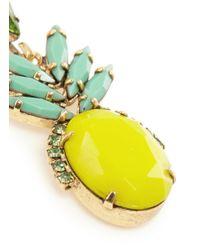 Elizabeth Cole - Multicolor 'ananas' Pineapple Drop Earrings - Lyst