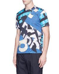 Comme des Garçons - Blue Graphic Logo Print T-shirt for Men - Lyst