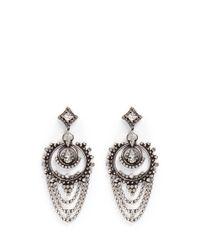 DANNIJO   Metallic 'rosalie' Swarovski Crystal Drop Earrings   Lyst