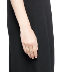 Pamela Love   Metallic 'frida' Diamond 18k Gold Feather Ring   Lyst