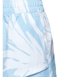 The Upside - Blue 'lilium Lima' Print Running Shorts - Lyst