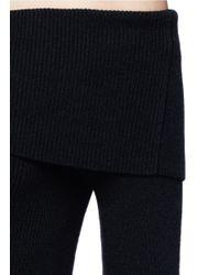 Vince - Black Rib Knit Off-shoulder Top - Lyst