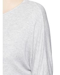 Vince - Gray Dolman Sleeve Modal Jersey T-shirt - Lyst
