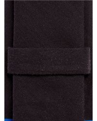 Givenchy - Black Star And Bar Stripe Print Cotton Tie for Men - Lyst