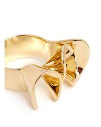 Elizabeth and James - Metallic 'arp' Folded Ribbon Ring - Lyst
