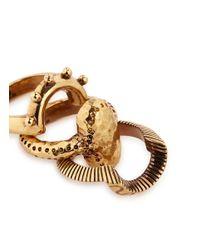 Chloé - Metallic 'lyzbeth' Brass Three Ring Set - Lyst