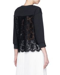 Markus Lupfer - Black 'mexican Flowers' Embroidery Lace Cece Sweatshirt - Lyst