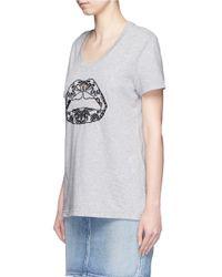 Markus Lupfer - Green 'lace Cut Out Lip' Dani T-shirt - Lyst