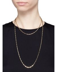 Eddie Borgo - Metallic Gold Plated Peaked Chain Necklace - Lyst