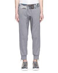 Kolor | Gray Print Waist Cotton Jogging Pants for Men | Lyst