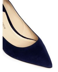Paul Andrew | Blue 'manhanttan' Suede Pumps | Lyst