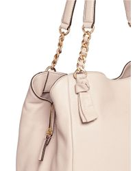 Tory Burch - Pink 'harper' Leather Tote - Lyst