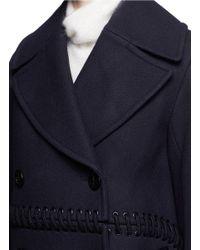 3.1 Phillip Lim - Blue Lace-up Detail Coat - Lyst