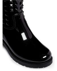 Valentino   Black Rockstud Patent Rainboots   Lyst