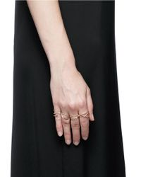 Repossi - Metallic 'white Noise' Diamond 18k Rose Gold Four Finger Ring - Lyst