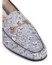 Sam Edelman Blue 'loraine' Horsebit Floral Print Loafers