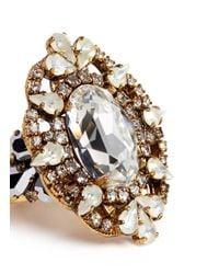 Erickson Beamon - Metallic 'swan Lake' Swarovski Crystal Cocktail Ring - Lyst