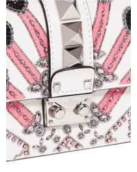 Valentino - Multicolor 'rockstud Lock' Mini Love Blade Embellished Shoulder Bag - Lyst