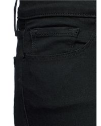 FRAME - Black 'le Crop Bell' Cropped Flared Jeans - Lyst