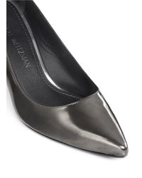 Stuart Weitzman | Black 'first Class' Patent Leather Pumps | Lyst