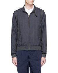 Kolor | Gray Check Plaid Blouson Jacket for Men | Lyst