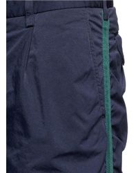 Kolor | Blue Ruched Outseam Cropped Pants for Men | Lyst