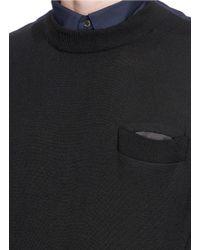 Sacai - Multicolor Contrast Collar Wool Sweater for Men - Lyst