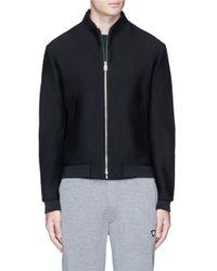 Armani | Black Mesh Jersey Track Jacket for Men | Lyst