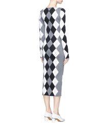 Stella McCartney - Multicolor Argyle Wool-blend Knit Dress - Lyst